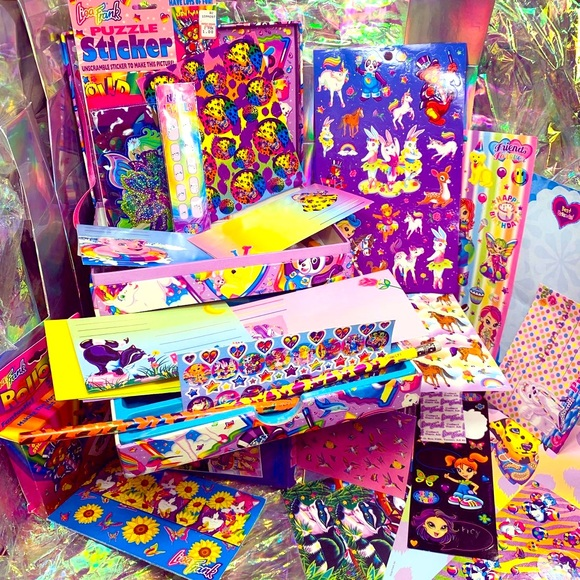 LISA FRANK STATIONERY BOX rollout stickers MARKIE+